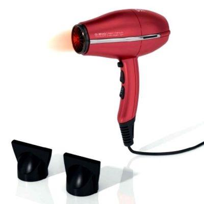 Фен Ga.Ma G-Evo 3800 галоген с ионизацией 2000W красный