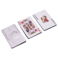 Карты игральные Silver Dollar серебряный пластиковые 54 листа толщина 0,28мм