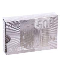 Карты игральные Silver Euro серебряный пластиковые 54 листа толщина 0,28мм