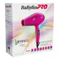 Фен BaByliss PRO Luminoso Rosa 6350 с ионизацией 2100W розовый
