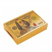 Карты игральные Gold Dollar золотистый пластиковые 54 листа толщина 0,28мм